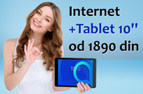 Internet uz Tablet 10 inča