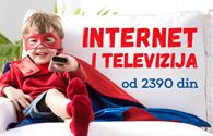 TV paketi uz neograničen internet